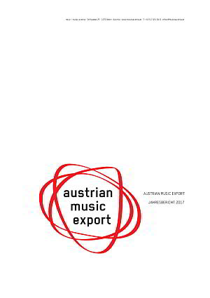 Annual Report Austrian Music Export 2017 cover
