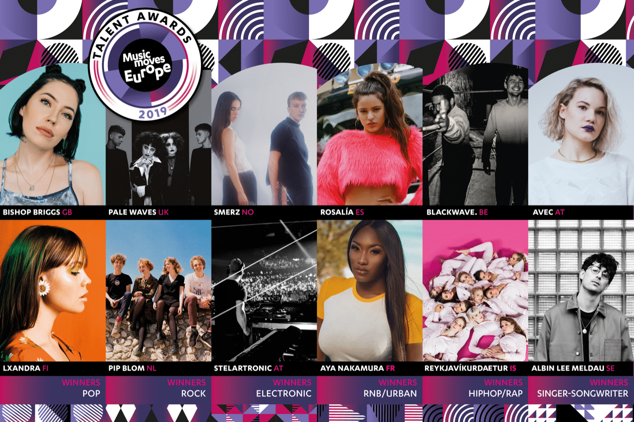 Winners 2018/2019 © Music Moves Europe Talent Awards