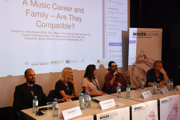 "Waves Vienna Conference 2018: ""Music Career and Family"" (c) Anna Breit"